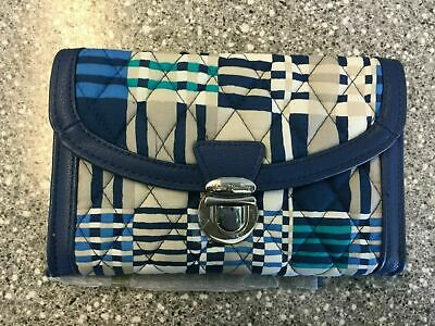 NWT Vera Bradley Ultimate Wristlet Wallet Push Lock Clutch SANTIAGO WOVEN Push Lock Wallet