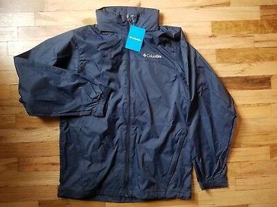 (NWT Columbia Men's NAVY RAINCREEK FALLS Omni-Shield® Rain Jacket  S M L XL XXL)
