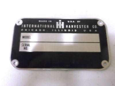 New Farmall Ihc Serial Number Tag Cub 100 130 140 200 230 240 300 330 340 350