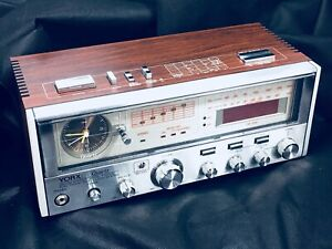 Vintage clock radio York digital Dual clock Headphone jack AM/FM
