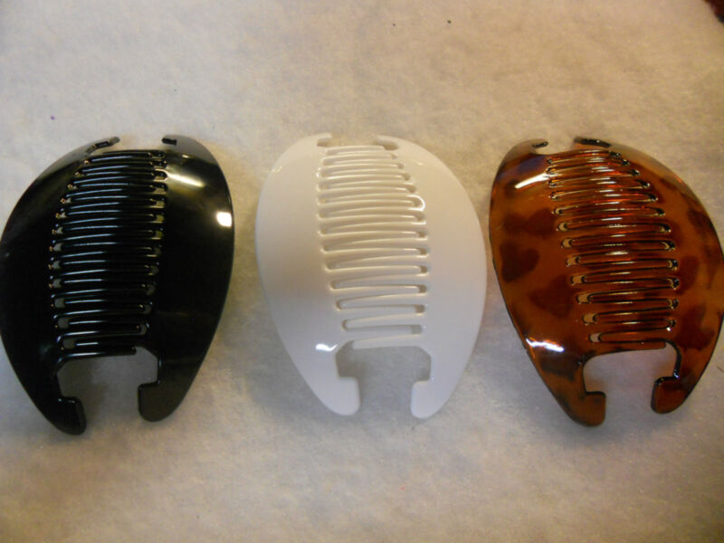 3set Banana Comb Clip Thick Hair Riser Claw Interlocking Jaw Extra Choose color.