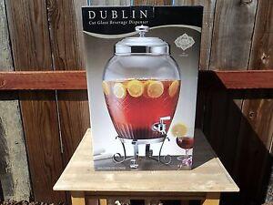 Dublin Cut Glass Beverage Dispenser Shannon Crystal by Godinger