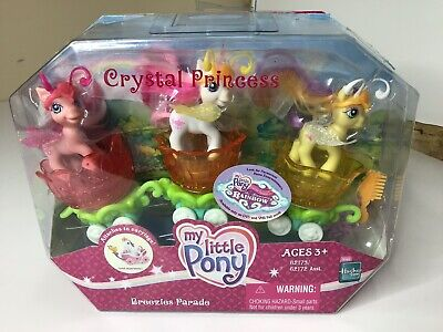 My Little Pony MLP G3 Crystal Princess Breezies Parade Fluffaluff Tumbletop NIB
