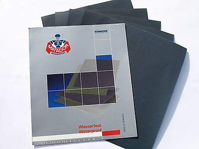 6 x Wet and Dry Sandpaper 2x3000 2x5000 2x7000 grit Quality Waterproof Paper