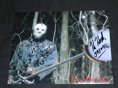 KANE HODDER Signed 8x10 Photo Friday the 13th 7,8,9,X JASON