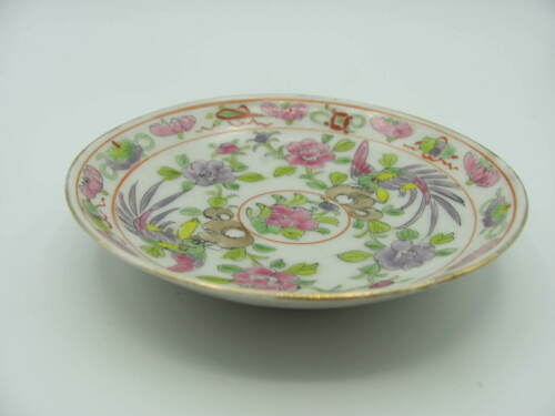 Antique Ching / Qing Period Peranakan / Nyonya Baba Polychrome Porcelain Saucer