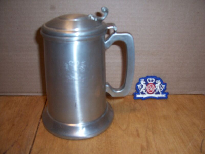 PHILLIP MORRIS PEWTER EMPLOYEE BEER STEIN AND PATCH