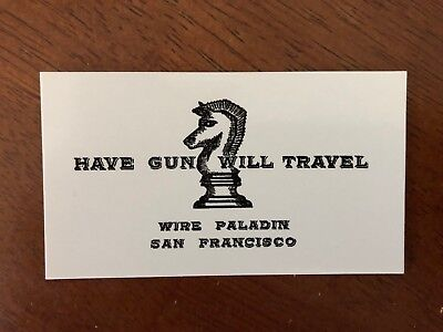 HAVE GUN WILL TRAVEL/Paladin - (30) Business card size cards! Amazing quality!