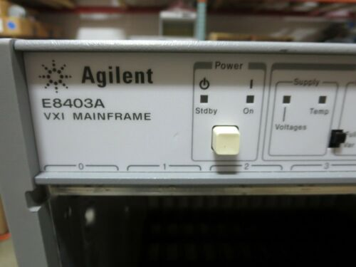 H. - P. & Agilent, E8401A & E8403A, Mainframe, XVI, 13 Slot, Units Power On