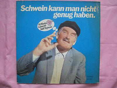 """50 Minuten Lachen mit Adolf Tegtmeier-LP """"Schwein kann man nicht genug haben"""""""