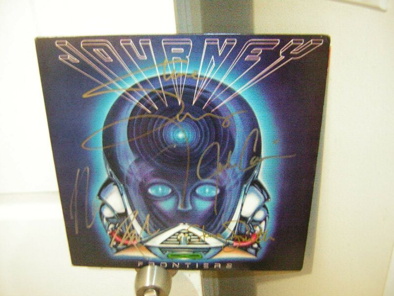 Journey signed lp **Frontiers **1983**5 band members **Steve Perry ***