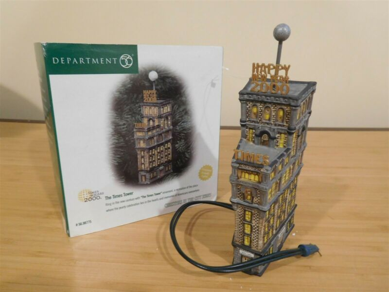 Dept 56 CIC - Xmas Ornament - The Times Tower - Lighted - Free Shipping