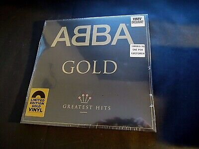 ABBA GOLD DOUBLE LP GREATEST HITS LIMITED EDITION GOLD VINYL SHRINKWRAPPED
