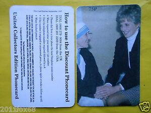 1997 phone cards 75P lady diana princess diana teresa di calcutta telefonkarten - Italia - Si accetta il rimborso e la restituzione entro 14 giorni lavorativi dal ricevimento del prodotto acquistato, ma soltanto se vi è una giusta, onesta e valida motivazione........e possibilmente dopo un accordo fra le due parti. Si provvederà alla - Italia