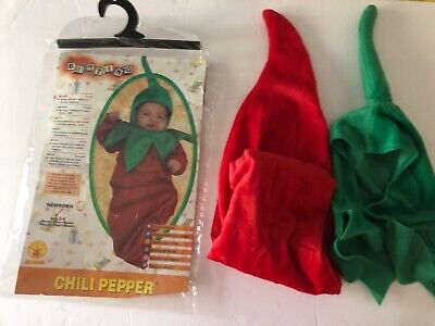 Baby Chili Pepper Costume (Rubie's Baby Bunting Chili Pepper Costume 0-9 Months)