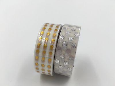 Gold Glitter Tape (Primary Metalic Glitter Bronzing Washi tape Silver Gold Foiled )