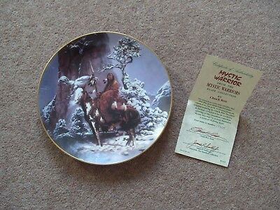 Hamilton Collection Mystic Warrior Plate with Certificate Chuck Ren 1992