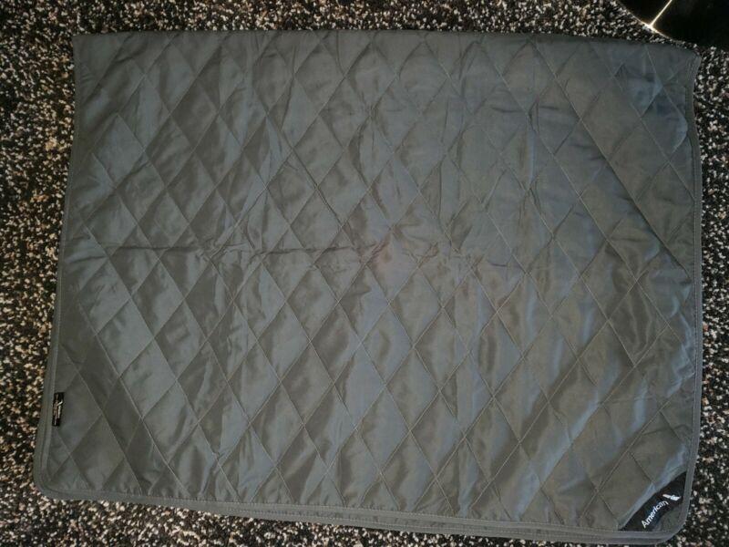 American Airlines AA Logo Blanket Grey Quilt Comforter RARE NIP