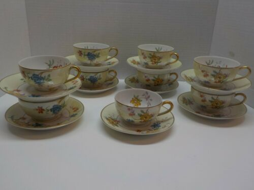 Bernardaud B&C Limoges France Rivera Tea Cup and saucer 4 sets