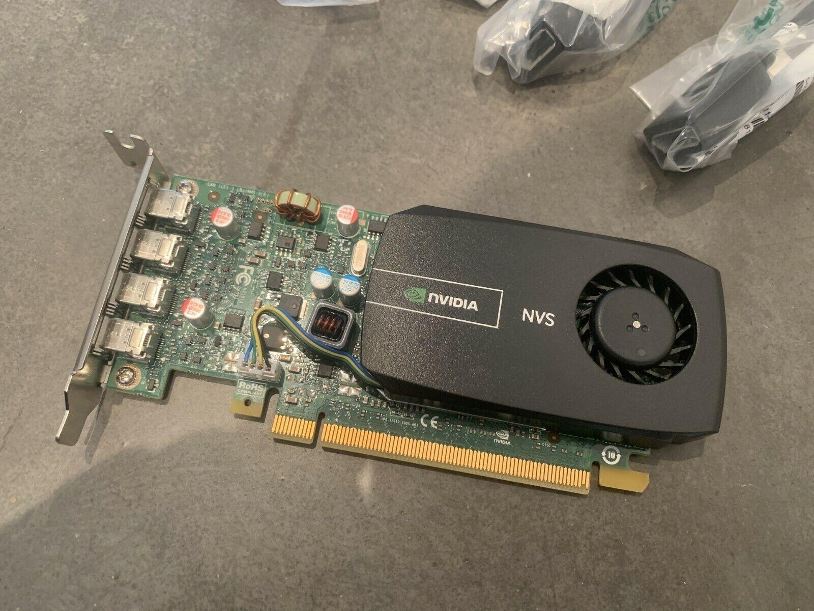 NVidia NVS510 2GB Grafikkarte 4x Mini DP 00FC862 4K incl Adapter Low Profile