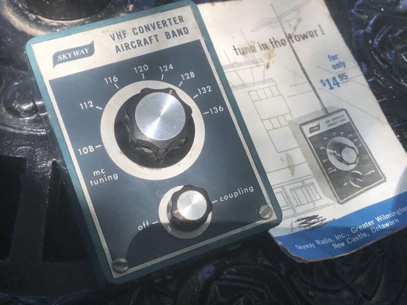 SKYWAY VHF Converter AIRCRAFT Band To AM Radio