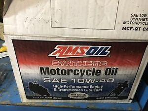 New Case of Amsoil 10W-40 Motorcycle Oil