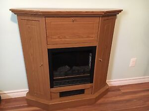 Working Electric Fireplace with Storage