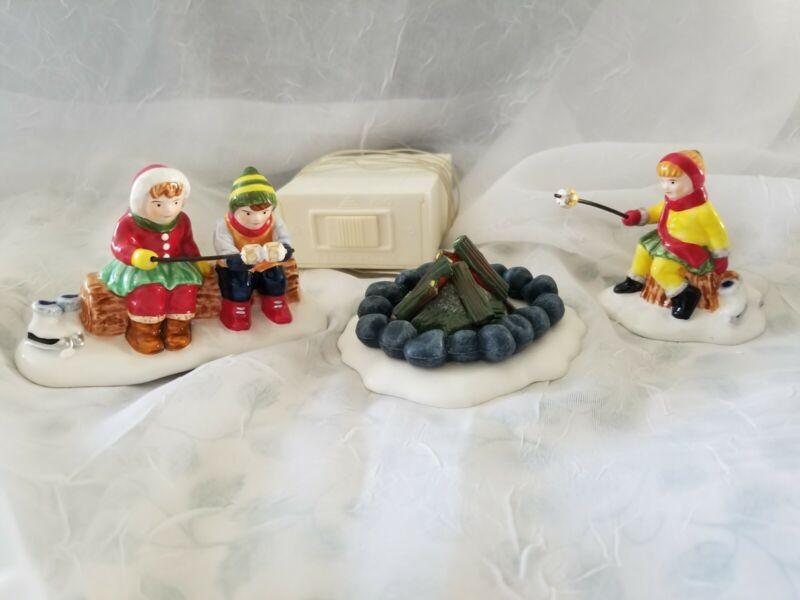 Dept 56 Snow Village - Marshmallow Roast - Set of 3 - Free Shipping