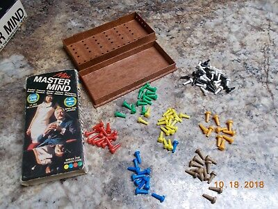 Invicta Mini Master Mind Mastermind Game, Complete, Used with wear on the sleeve