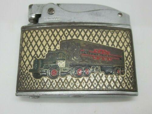 SAFEWAY TRUCK LINES CIGARETTE LIGHTER advertising Diesel Truck OLD vintage RARE