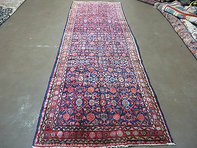 4' X 10' Antique Hand Made Persian Hamadan Mousel Wool Rug Veg Dyes Runner Nice