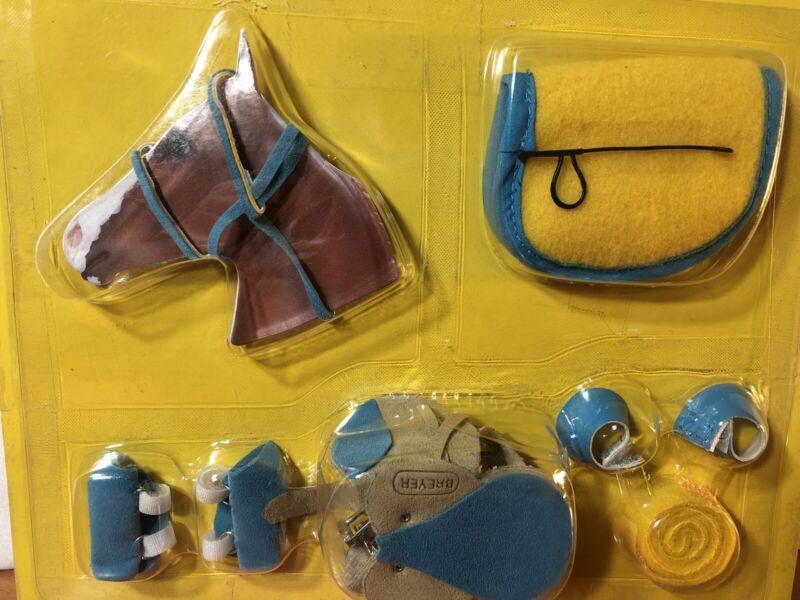Breyer 2041 English Riding Set Horse Accessories Leather Saddle 2010 Yellow New