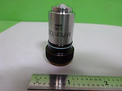 Microscope Part Objective Olympus Japan Mplan100 100x Optics As Is Biny3-h-10