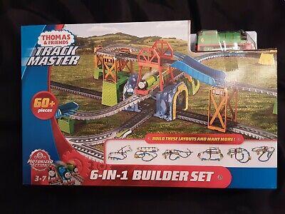 6-n-1 Trackmaster Thomas The Train & Friend Percy Motorized Engine Build Set New
