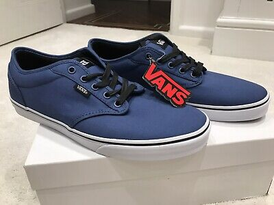 VANS Atwood Canvas Uni-Sex Skater Trainers BRAND NEW, Navy Blue, SIZE UK 10
