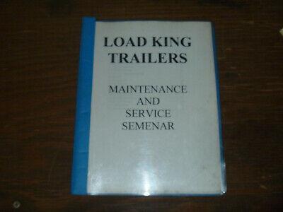 Load King Trailers Operator Maintenance Shop Service Repair Parts Catalog Manual
