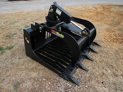 Bobcat Skid Steer Tractor Attachment - 48 Hd Rock Bucket Grapple - Free Ship