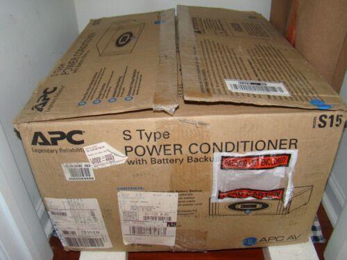 APC S15 Uninterruptible Power Supply;y and Line Conditioner - Open Box - Silver