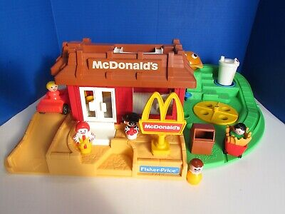 Vintage Fisher Price Little People McDonald's Restaurant Playground COMPLETE!
