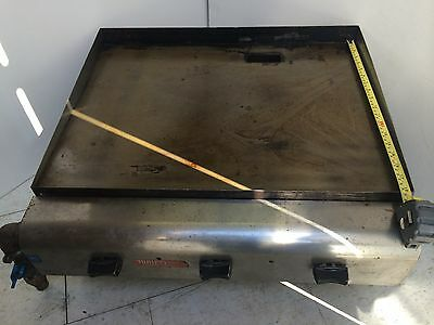 Food Truck Trailer Concession Griddle Grill 24 Propane Gas 3 Double Burners