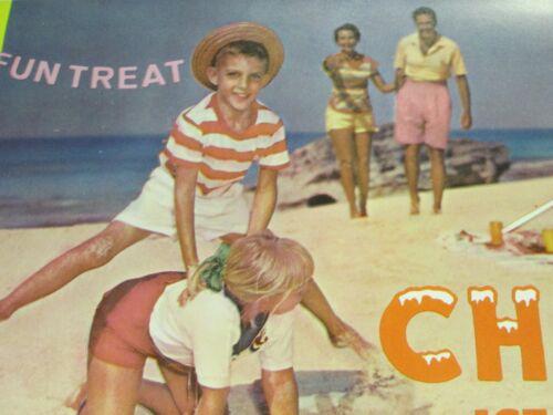 NOS Original 1963  Cheerio Ice Cream Bar Small Paper Poster  Advertising