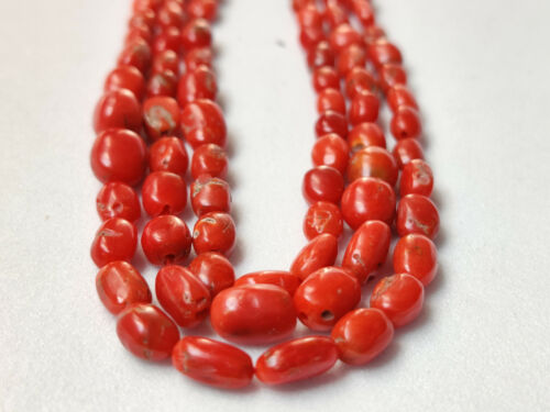Antique Natural Red Coral Beads,Undyed Natural Beautiful Certified Coral beads