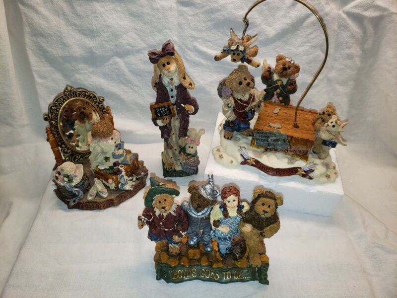 boyds bears figurines new limited editions lot of 4
