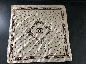 Authentic square Chanel scarf