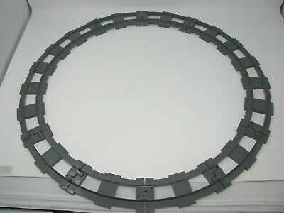 Authentic LEGO DUPLO Gray Train Set Track Pieces 12-Curved