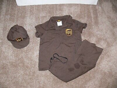 3 Guys Halloween Costumes (UPS Delivery Guy Uniform Costume Halloween Size 3 - 4 Toddler)
