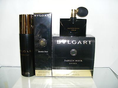 BULGARI.... JASMIN NOIR ....L'ELIXIR ....  EAU PARFUM..50.spray + SHOWER GEL 200 - Noir Gel Parfüm