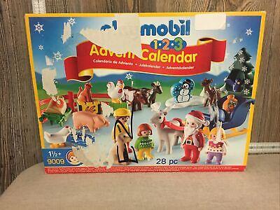 Damaged Box Playmobil 1.2.3 Advent Calendar Christmas on The Farm Building 9009