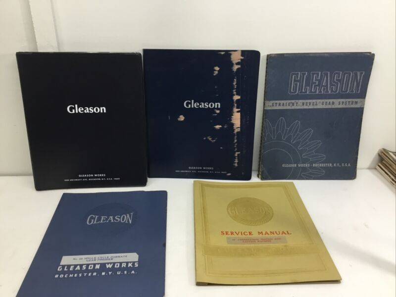 lot OLD Gleason  Beveled Gear System PLUS. Manuals 5 total.