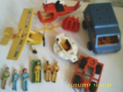 13 pcs VTG 1970-80's Fisher Price Adventure Series People Vehicles Planes ~ GUC